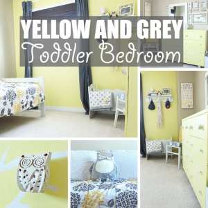 Yellow and Grey Toddler Bedroom