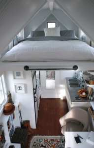 Tiny house living in a tiny interior.