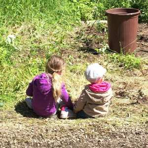 Planting a sapling is so easy - even kids can do it!