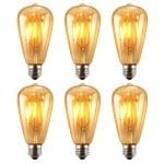 Eco-friendly lighting - LED Edison lightbulbs.