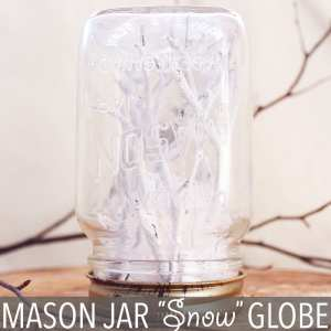 "Mason Jar ""Snow"" Globe by Of Houses and Trees 
