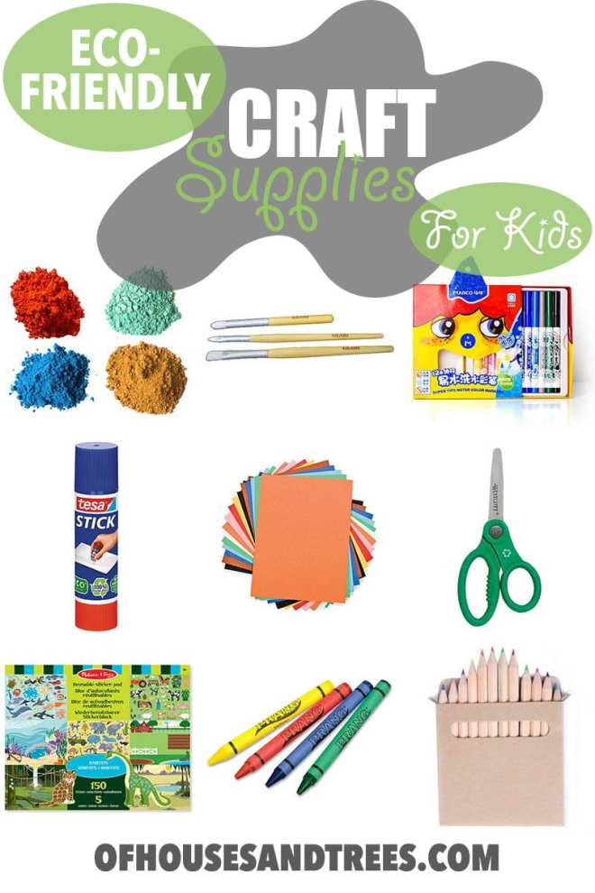 Eco Friendly Craft Supplies | Craft supplies for kids are usually non-toxic, but that doesn't mean they're earth-friendly. Here are few non-toxic AND eco-friendly craft supplies.