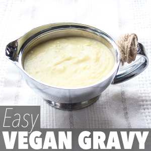 This easy vegan gravy recipe is perfect for holiday meals like Christmas, Easter and Thanksgiving. But it's also perfect for regular, every day meals!