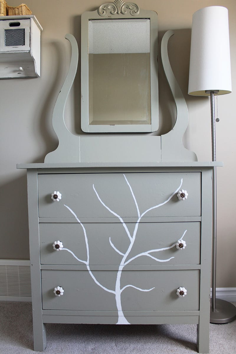 If you're looking for eco-friendly DIY projects, try this handpainted tree dresser. Give an old piece of furniture new life with a few coats of eco-friendly paint.