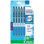 Green your school year by investing in eco-friendly school supplies such as these pens made from recycled plastic bottles.