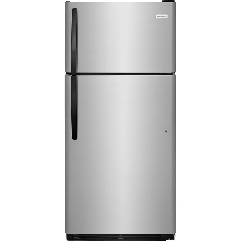 "What's an eco-conscious kitchen without an energy efficient fridge? This 28"" top freezer refrigerator by Frigidaire uses 336 kwH/yr."