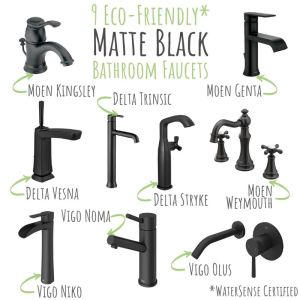 9 Eco-Friendly Matte Black Bathroom Faucets