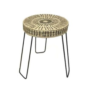 Love the look of bohemian bedroom decor, but need a little guidance pulling it all together? Check out this boho bedroom shopping guide - featuring eco-conscious items like this women-made raffia stool from ethical marketplace Made Trade.