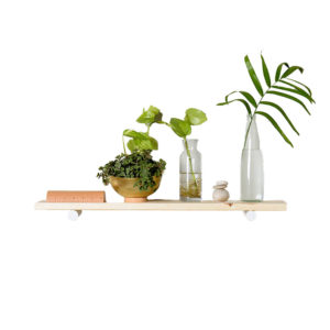 Creating a space that helps you feel peaceful and productive is the key to work-at-home success. And home office decor items like this floating shelf will do just that!