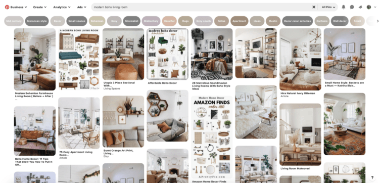 The Easiest Way to Create a Mood Board for Interior Design. STEP 4: Now for the fun part! You can add pins in a few different ways. Within Pinterest, you can repin or move pins you've already added to other boards or use the search bar to find new pins.