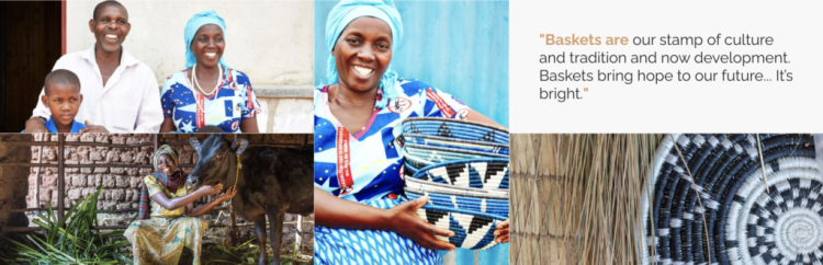Aside from being beautiful, woven basket wall decor purchased through company's such as KAZI support amazing artisans like Seraphine.