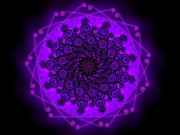 """Quando alguém dança com seu corpo e alma, a mente viaja. Ela não fica """"débil"""", ela se torna altamente criativa! É como uma mandala! Cria-se o ponto e então as cores invadem ao seu redor e dentro de si mesmo! Dance! Viva! Mandala criada por Rosea Bellator."""