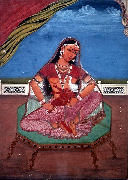 gravidez Parvati e Ganesha, em Jaipur, India. Autor desconhecido. gravidez