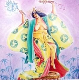 Uzume, desenho de Hranajanto, O Oraculo da Deusa