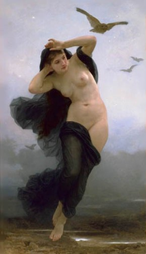 William-Adolphe_Bouguereau_(1825-1905)_-_La_Nuit_(1883) - Cantos às Deusas & Forças da Noite