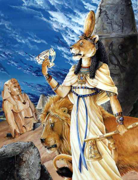Sekhmet, as the Drinker of Blood, por hbruton, on DeviantArt.
