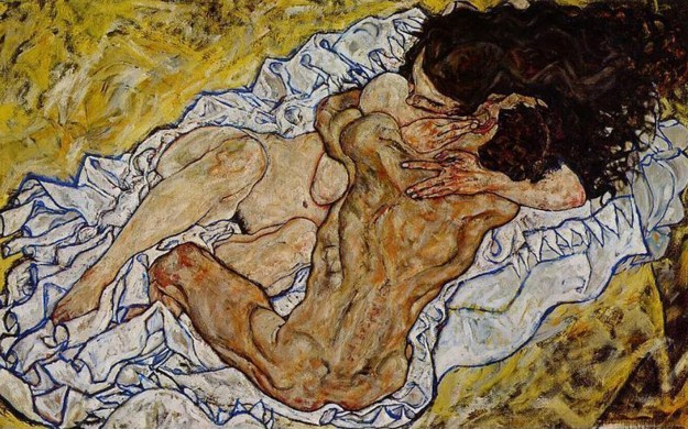 El abrazo. 1917. Egon Schiele