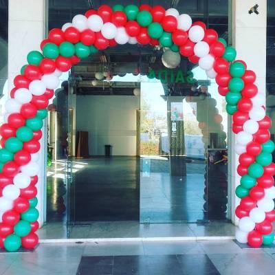 Arco de Balões Natal | Oficina de Sonhos - Animação e Decoração de Eventos Algarve