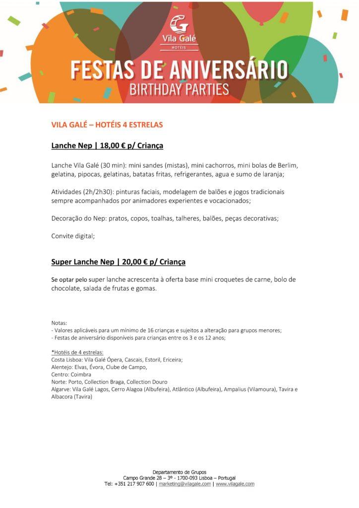 Festas de Aniversário Hotéis Vila Galé | Oficina de Sonhos - Animação e Decoração de Eventos Algarve