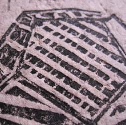 detalhe - papel reciclado e gravura linóleo