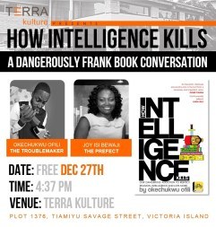My Dangerously Frank Conversation @TerraKulture This Saturday