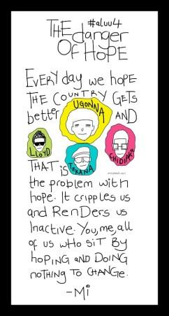 The Danger Of Hope #aluu4