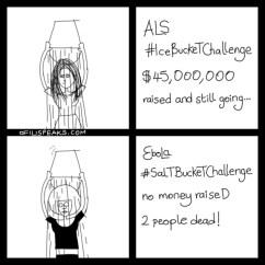 ALS #IceBucketChallenge Raises Millions While #EbolaSaltBucket Challenge Kills