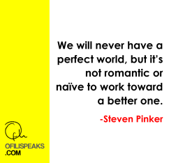 Steven Pinker Speaks: A Two-Minute Case For Optimism