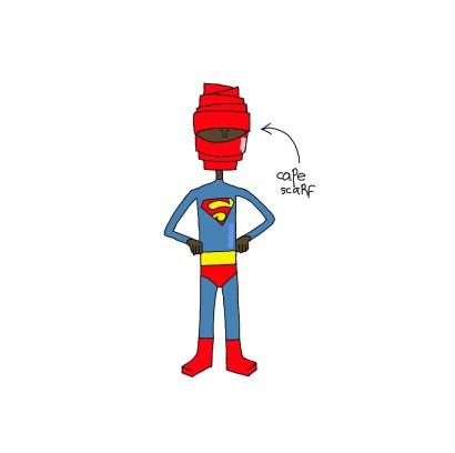 superman cäpe scarf insta