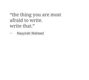write angry