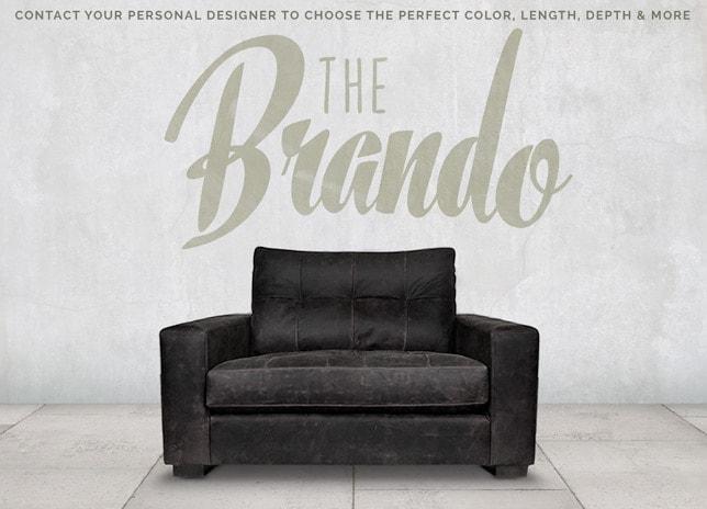 Brando Blind Tufted Track Arm Chair