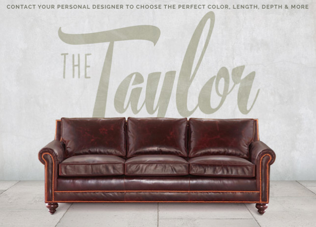 Taylor Petite Roll Arm Sofa