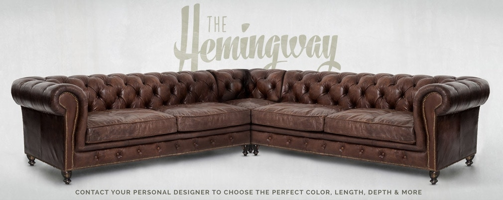 Hemingway Custom Chesterfield Sectional