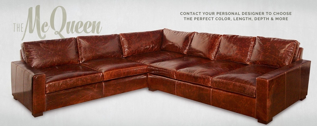 McQueen Custom Track Arm Sectional