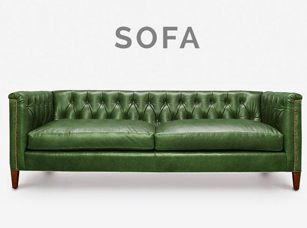 Neil Mid-Century Tufted Sofa