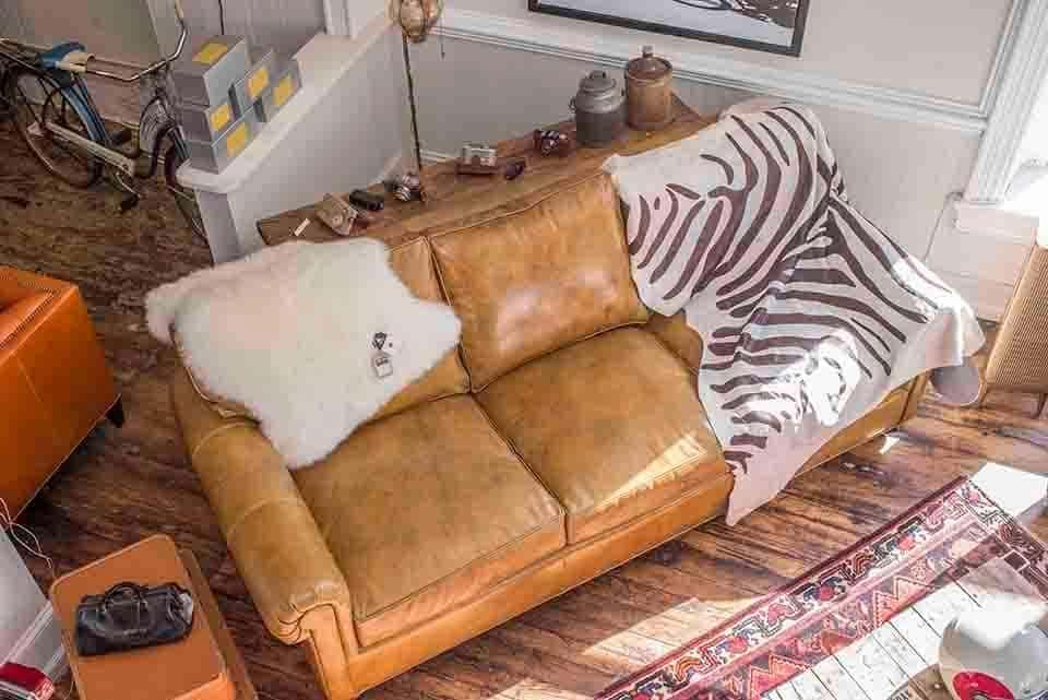 Leather Lawson Style Sofa