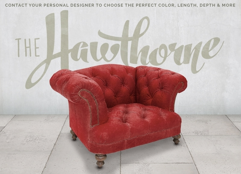 Hawthorne Red Velvet Tufted British Chesterfield Pub Chair