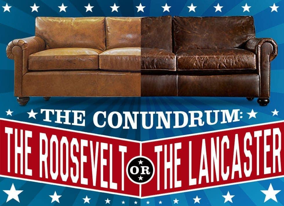 Restoration Hardware's Lancaster VS of Iron & Oak's Roosevelt