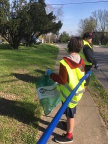 April 8 picking up trash