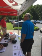 Joe Armour at registration
