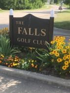 The Falls Golf Club sign