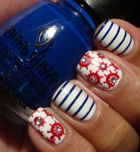 31 Inspired Days of Nail Art – Day 24: Nautical Inspired Nails