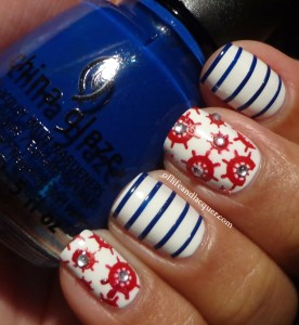 Nautical Inspired Nails
