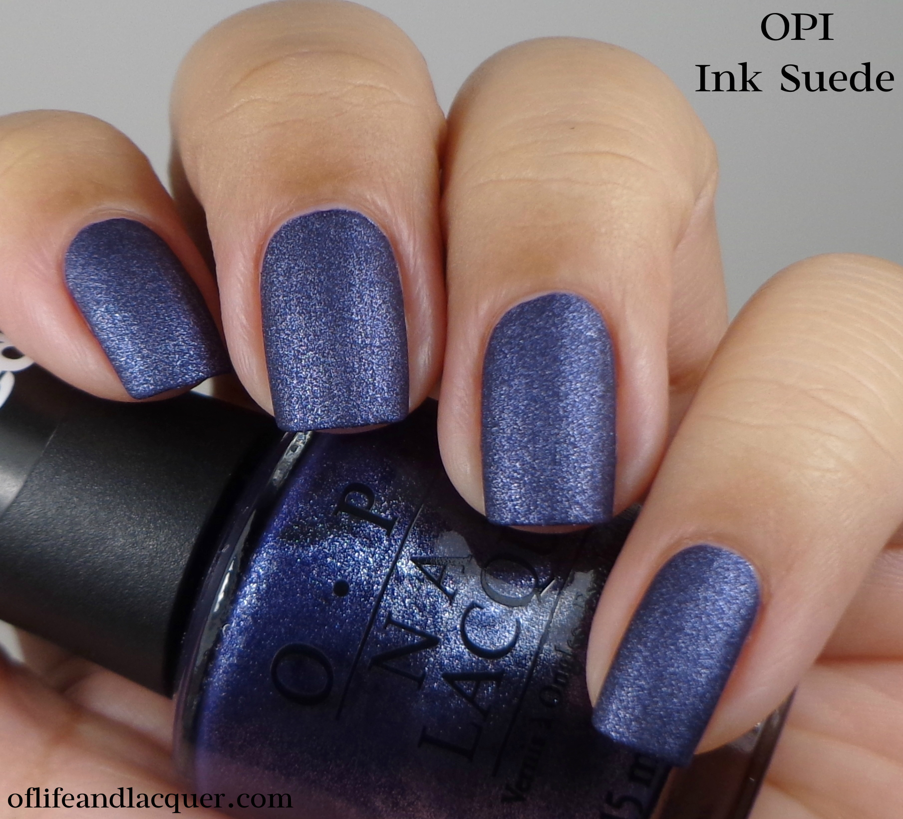 OPI Ink Suede 1a - Of Life and Lacquer