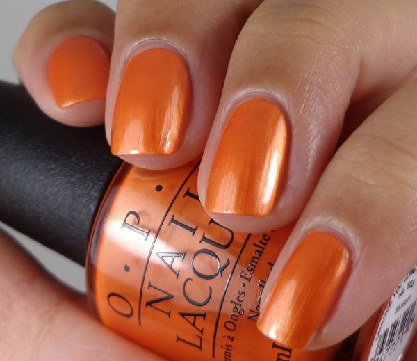 OPI Orange You Going To The Game 2