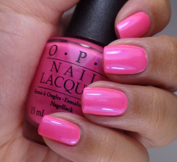 OPI Hotter Than You Pink 2