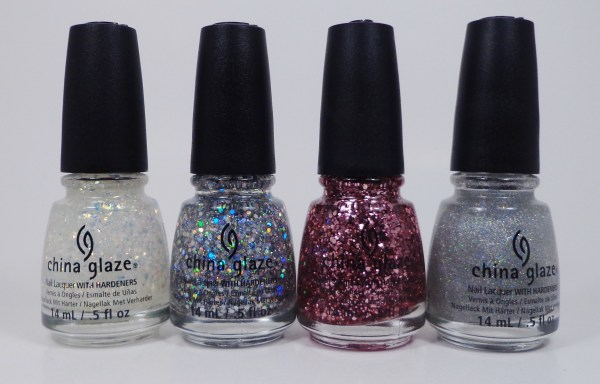China Glaze Luxe & Lush, Techno, I Pink I Can, Fairy Dust 1