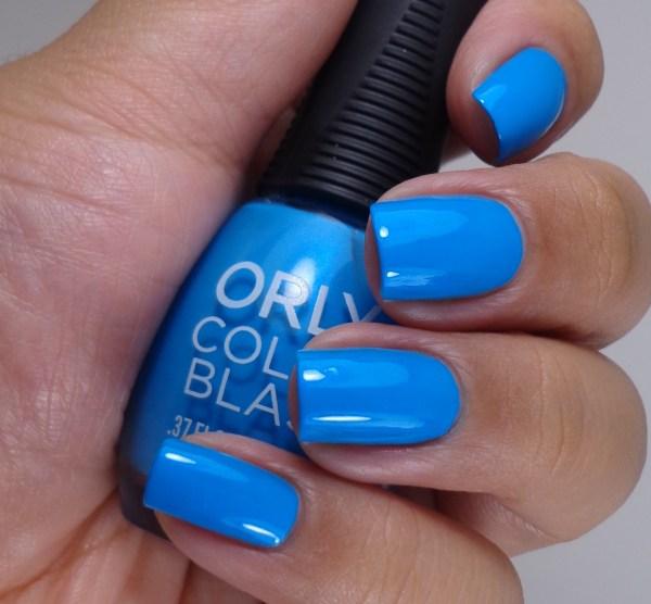 Orly Color Blast Bright Blue Neon 3
