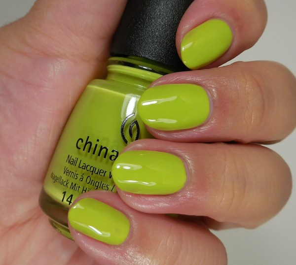 China Glaze Trip of a Lime Time 2