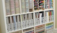 Paper craft storage and organization idea